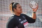 Siositina Hakeai finished fourth in the women's discus final. Photo / Greg Bowker