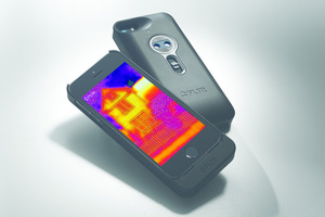 The FLIR One iPhone thermal imaging add-on. Photo / FLIR Systems