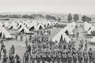 Soldiers from the First Maori Contingent in training at Avondale Camp. Photo / Sir George Grey Special Collections, Auckland Libraries