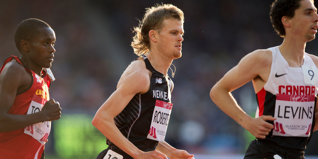 Jake Robertson was fuming after the 10,000m final yesterday. Photo / Greg Bowker
