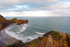 South Piha looking down from Lion Rock. Photo / Herald On Sunday / Jason Dorday