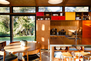 The sun-filled dining and kitchen area. Photo / Babiche Martens.