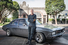 Jono Pryor and his 1975 Holden Kingswood, Picture / Ted Baghurst