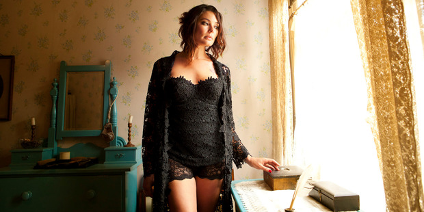 Jacqui corsolette $780. Christy french knickers $100. Lily robe $550. All from Goss Lingerie.