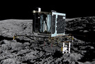 The Rosetta spacecraft 'sPhilae robotic landing craft above comet 67P/Churyumov-Gerasimenko artist impression. Photo / Supplied