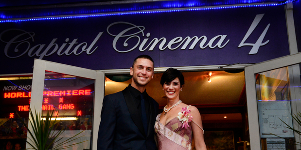 Z-Nail Gang world premiere at Capitol Cinema, Te Puke. Director Anton Steel (left) and producer Kylie DellaBarca Steel