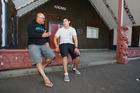 Awanui and Wiremu Black, 18, having a conversation in te reo (Maori) at Tauranga Boys' College marae. Photo/file