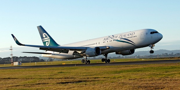 An Air New Zealand Boeing 767 lands at Auckland International Airport. Photo / File