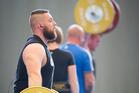 New Zealand weightlifter Stanislav Chalaev. Photo / Greg Bowker