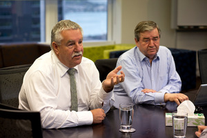 Abano Healthcare chairman Trevor Janes (R) and Abano chief executive Alan Clarke (L). NZH pic