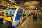One of Auckland's new electric trains. Photo / Greg Bowker