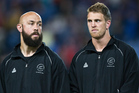 New Zealand Captain DJ Forbes and Scott Curry. Photo / APN