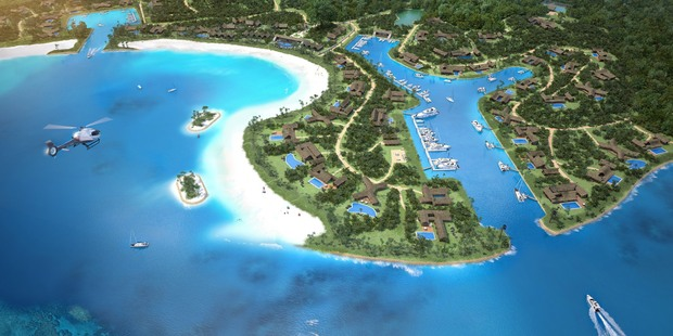 An artist's impression of the $140m Fijian project called Vunabaka.
