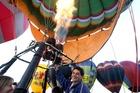 Lance Hopping at a Wairarapa balloon festival.