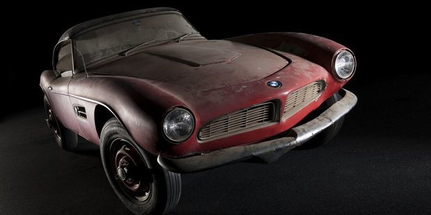 Elvis' gorgeous 1957 BMW 507 roadster he drove while stationed in Germany during his time in the US army.