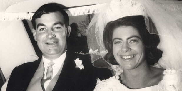 Harvey and Jeanette Crewe on their wedding day.