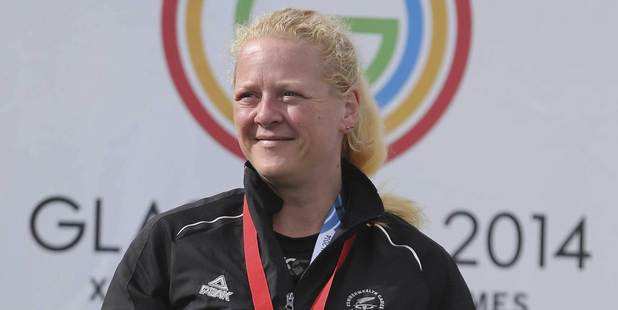 New Zealand shooter Sally Johnston won gold in the 50m rifle prone event. Photo / Getty Images
