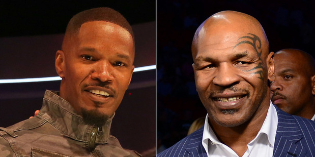 Jamie Foxx, left, is set to play Mike Tyson in a biopic on the boxer's life. Photos / Getty Images