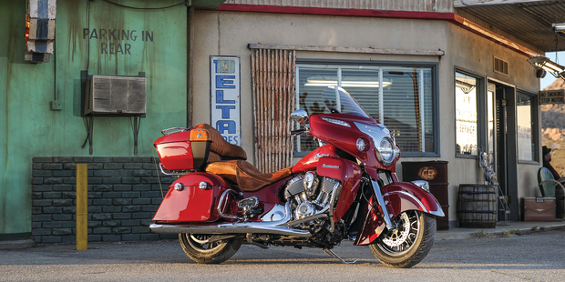 The freshly announced Indian Roadmaster comes complete with 10-stage heated grips and seat warmers - perfect for winter touring. Photo / Barry Hathaway