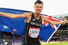 New Zealand's Zane Robertson after taking bronze in the 5000m. Photo / Getty Images