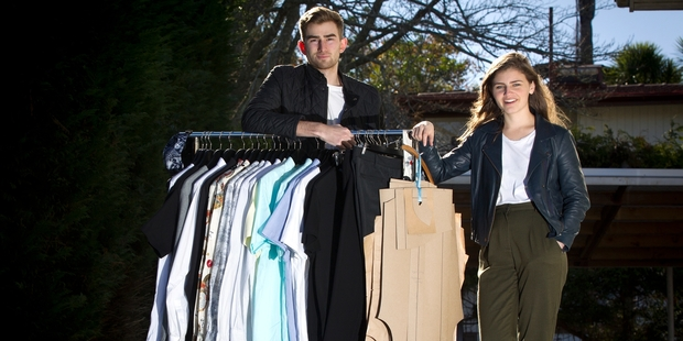 Alex Catt (left) and Chloe Swarbrick decided to take the plunge into their own business after becoming disenchanted with the idea of entering the traditional workforce.  Photo / Sarah Ivey