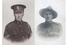Lance Corporal Ralph Dixon, left, and Rifleman Vic Dixon.