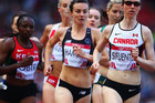 New Zealand runner Nikki Hamblin finished second in her heat in the 1500m. Photo / Getty