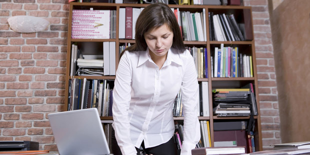 If you're confronting a big stack of papers, it may be better to do the job standing. Photo / Thinkstock