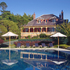 Darley's Restaurant and the outdoor pool at Lilianfels Blue Mountains Resort & Spa. Photo / Supplied