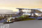 An artist's impression of the upgraded Mt Eden rail station.
