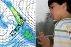 Rain, rain go away. The MetService says it's likely the brunt of the bad weather will hit on Sunday, as the image shows. Photo / Met Office, Thinkstock