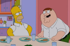 Homer meets Peter Griffin in the first trailer for The Simpsons Guy. Photo/YouTube