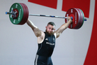 Stanislav Chalaev on his way to claiming Commonwealth Games silver. Photo / Getty Images