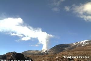 An image of Te Maari Crater on Mount Tongariro from GeoNet's volcano camera today.