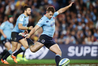 Bernard Foley of the Waratahs kicks a conversion during the Super Rugby Semi Final match against the Brumbies. Photo / Getty Images