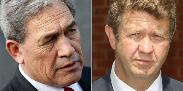 Left, Winston Peters. Right, David Cunliffe. Photo / NZ Herald file
