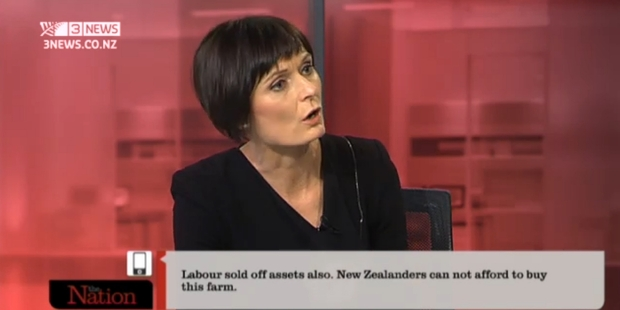 With her edgy style, The Nation co-host Lisa Owen brings back memories of once-upon-a-time political editor Linda Clark.