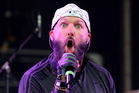 Fred Durst performs live in England. Limp Bizkit's new song has been mocked online. Photo/Getty