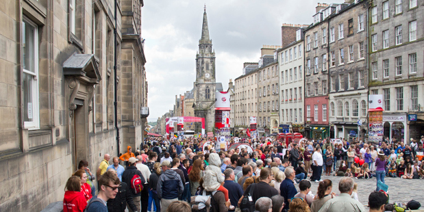 Edinburgh Festival Fringe in the Royal Mile, Scotland. Photo / Thinkstock