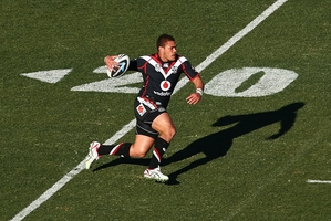 Tuimoala Lolohea in action against the Raiders. Photo / Getty Images