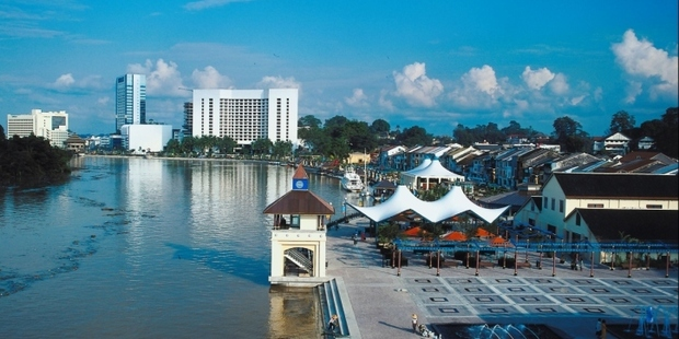 The two students had been on a six week placement in Kuching, pictured. Photo / Thinkstock