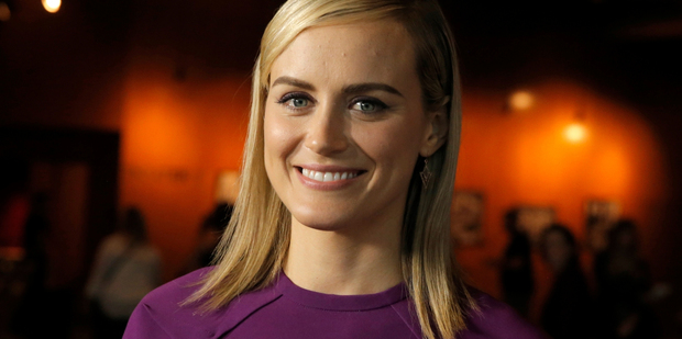Taylor Schilling has apologised for a crude joke in Orange is the New Black. Photo/AP