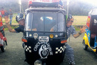 Houhora police Constable Tracee Knowler and reporter Kristin Edge are racing across India in a tuk tuk.