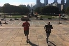 "The famous ""Rocky Steps"" in front of the Philadelphia Museum of Art have provided inspiration for many boxers over the years, including one David Tua, and it was here today on a bright sunny morning that fellow New Zealanders Joseph Parker and Robbie Berridge found themselves ahead of their fights this weekend."