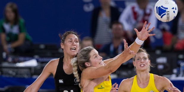 Australia won the gold medal with a 58-40 win over the Silver Ferns at the Hydro Arena. Photo / Greg Bowker
