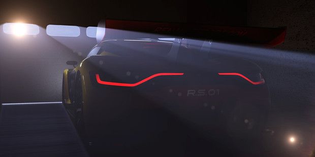 Teaser image of the Renault Sport RS01.