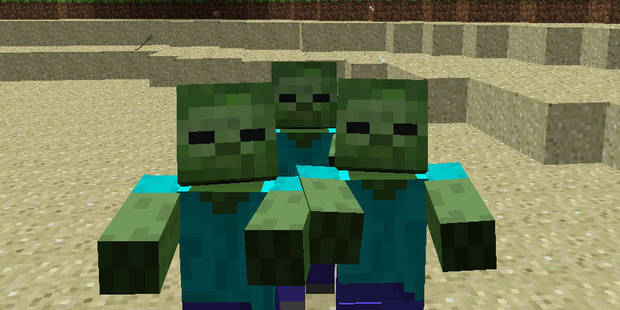 Zombies are among the imaginative creations of the Minecraft world.