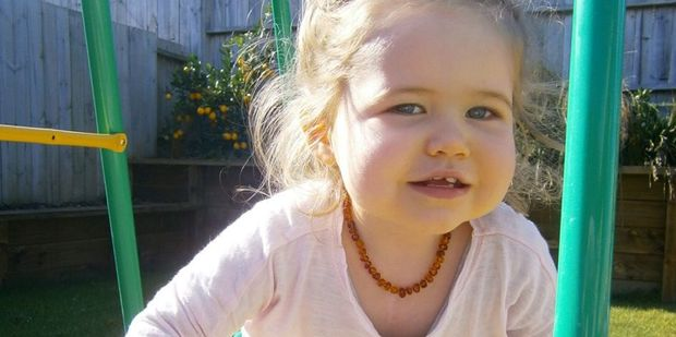 Meila Butcher will be two years old in a few months and is now a happy, healthy little girl.