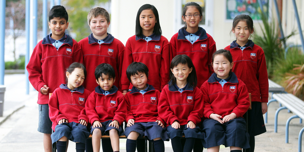 A snapshot of faces at Owairoa School in Howick, Auckland. Photo / Doug Sherring