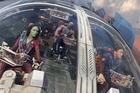 Zoe Saldana, Dave Bautista and Chris Pratt in Guardians of the Galaxy.